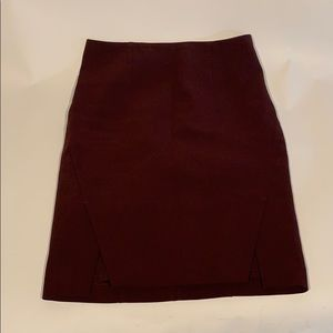 White House Black Market Maroon Pencil Skirt